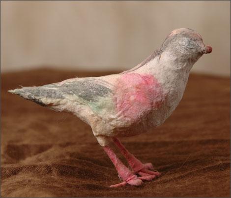 Antique corron Christmas ornament of BIRD