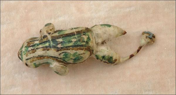 Antique Christmas ornament FROG