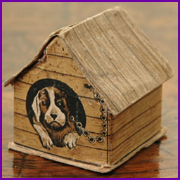 Antique Christmas candy container decoration DOG HOUSE