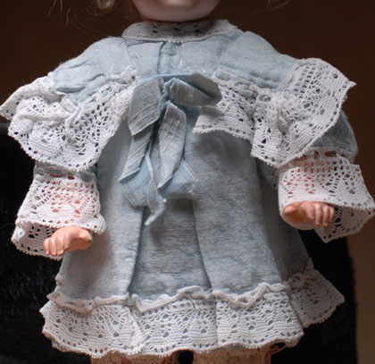 French Original Dress for doll 9-10in