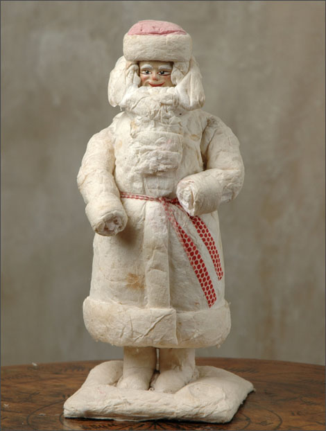 Antique Christmas Santa figure decoration