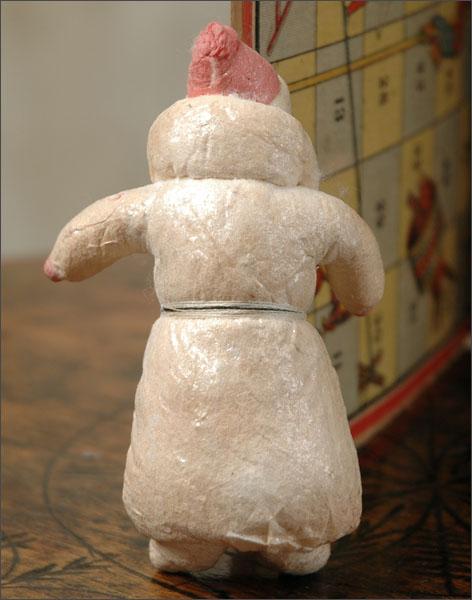 Antique Christmas ornament cotton SANTA