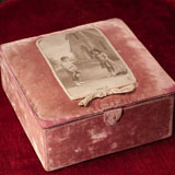 Antique French Box for doll clothes