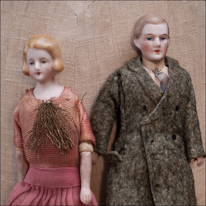 Rare Two dolls for dollhouse