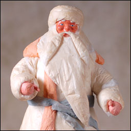Antique Christmas Santa figure
