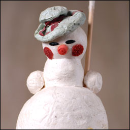 Antique Christmas Snowman figure