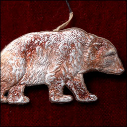 Antique Dresden Christmas ornament GRIZZLY BEAR