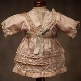 Original French Rose Silk Doll Dress
