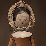Peg wooden doll circa 1840s