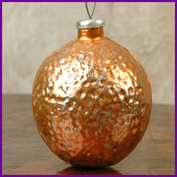 Antique Christmas Kugel ornament ORANGE