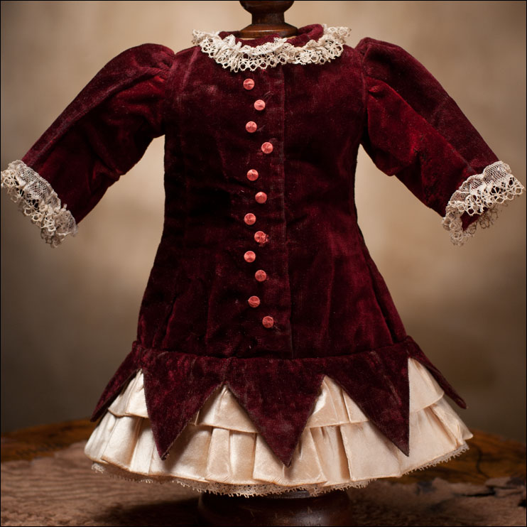 Antique Velvet Dress
