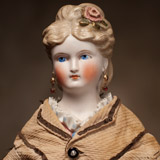 German Lady Doll by KLING all original! 17 in