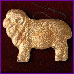 Antique Christmas ornament SHEEP