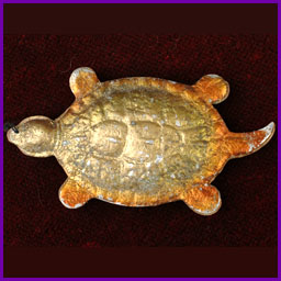 Antique Christmas Dresden ornament TURTLE