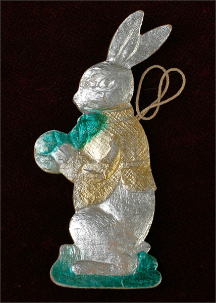 Antique Christmas ornament RABBIT With BALL