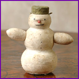 Antique Christmas ornament SNOWMAN