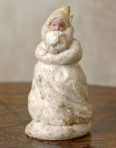 Antique Christmas cotton Santa figure