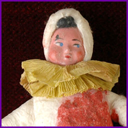 Antique Christmas cotton ornament CLOWN