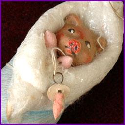 Antique Christmas ornament PIGLET