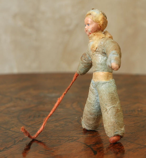 Antique Christmas ornament HOCKEY PLAYER