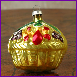 Antique Christmas ornament BASKET