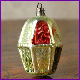 Antique German Christmas ornament LANTERN