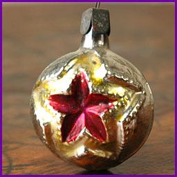 Antique Christmas ornament SOVIET STAR