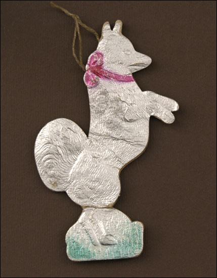 Antique Christmas ornament BEGGING DOG