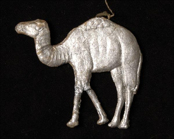 Antique Christmas Dresden ornament CAMEL
