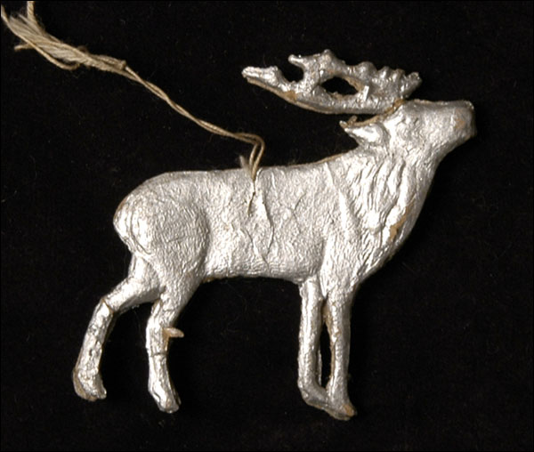 Antique Christmas Dresden ornament REINDEER