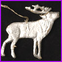 Antique Christmas Dresden ornament REINDEER
