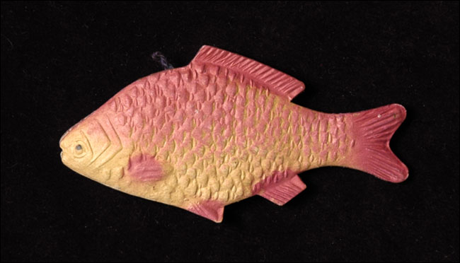 Antique Christmas ornament PERCH FISH