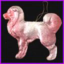 Antique Dresden Christmas ornament DOG
