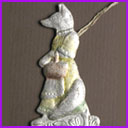 Antique Christmas ornament FOX with BASKET