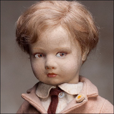 Early LENCI Character doll Boy