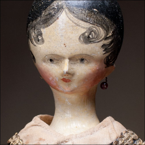 Rare Wooden Doll c.1820