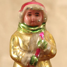 Antique Christmas ornament JANITOR or YARD KEEPER