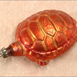 Antique German Christmas ornament TURTLE