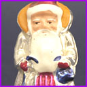 Vintage Christmas glass ornament SANTA