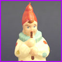 Antique Christmas ornament CLOWN WITH PIPE