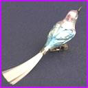Antique Christmas German ornament BIRD