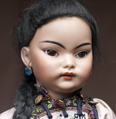 RARE ASIAN BISQUE GERMAN DOLL