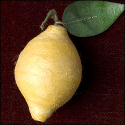 Antique Christmas ornament - cotton LEMON