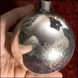 Antique Christmas ornament - Huge Kugel BALL