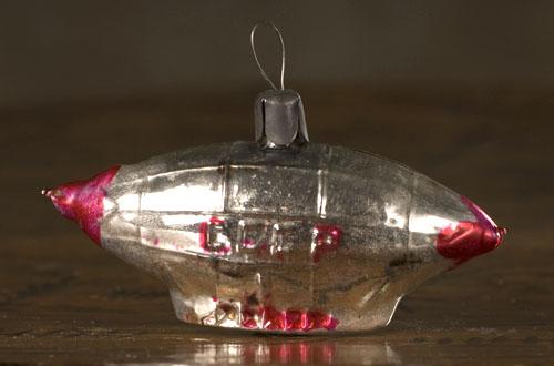 Antique Christmas ornament USSR DIRIGIBLE