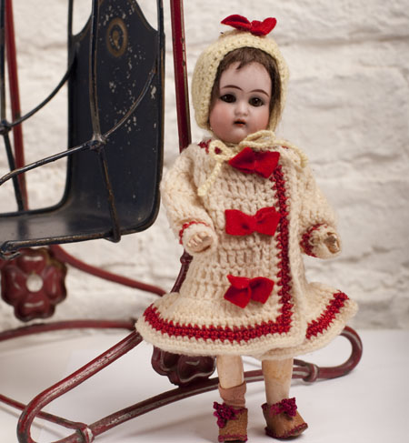 Antique German Swing with Doll