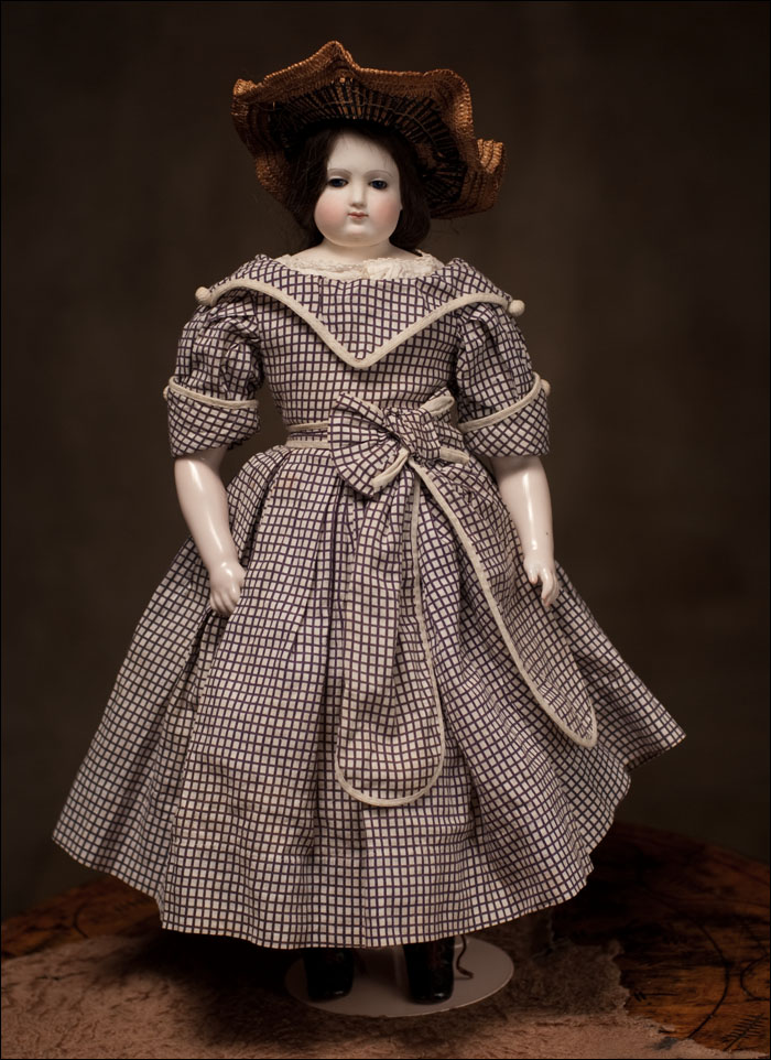 Редкая модная кукла Denis Duval  - 44 см, 1861 год, Париж