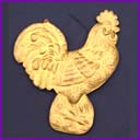 Old Dresden Christmas ornament ROOSTER