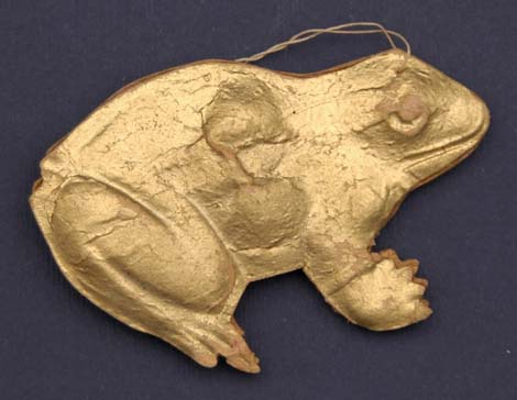 Antique Christmas ornament FROG