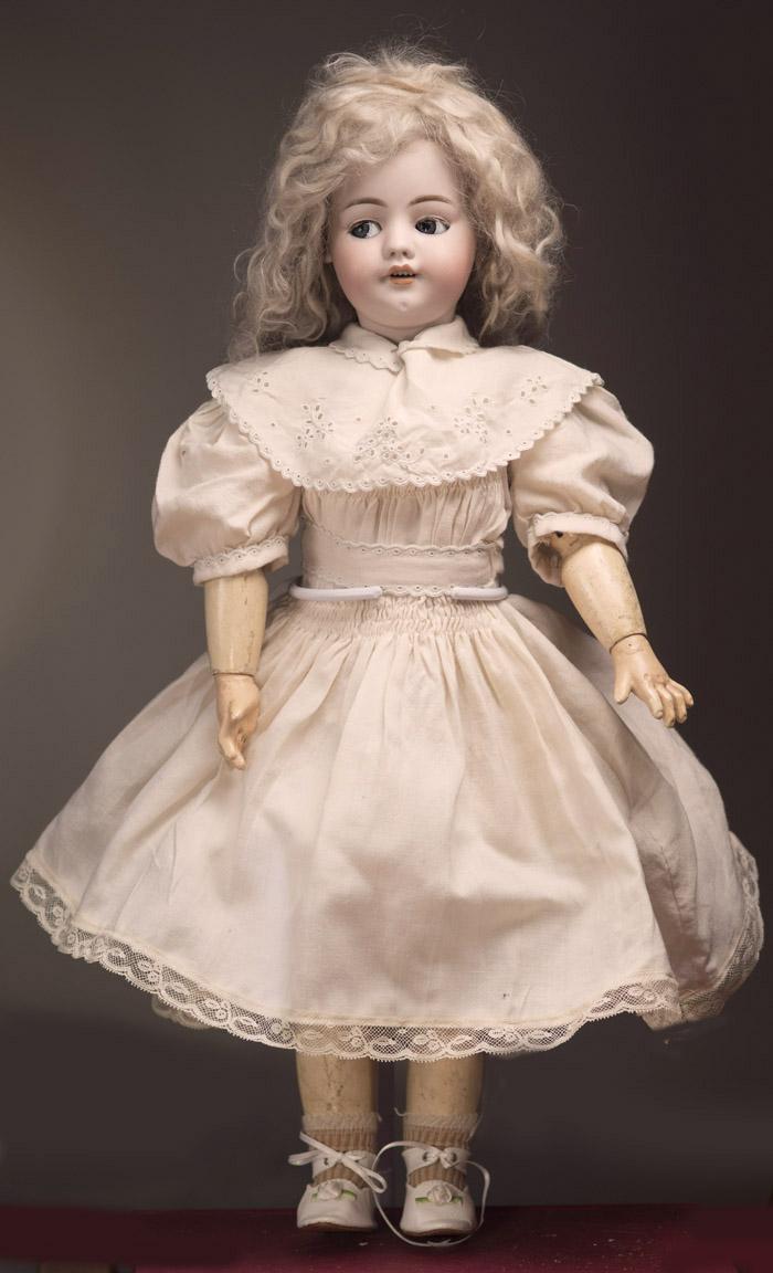 Ходячая кукла с флиртующими глазами Simon&Halbig DEP для французского рынка 56 см